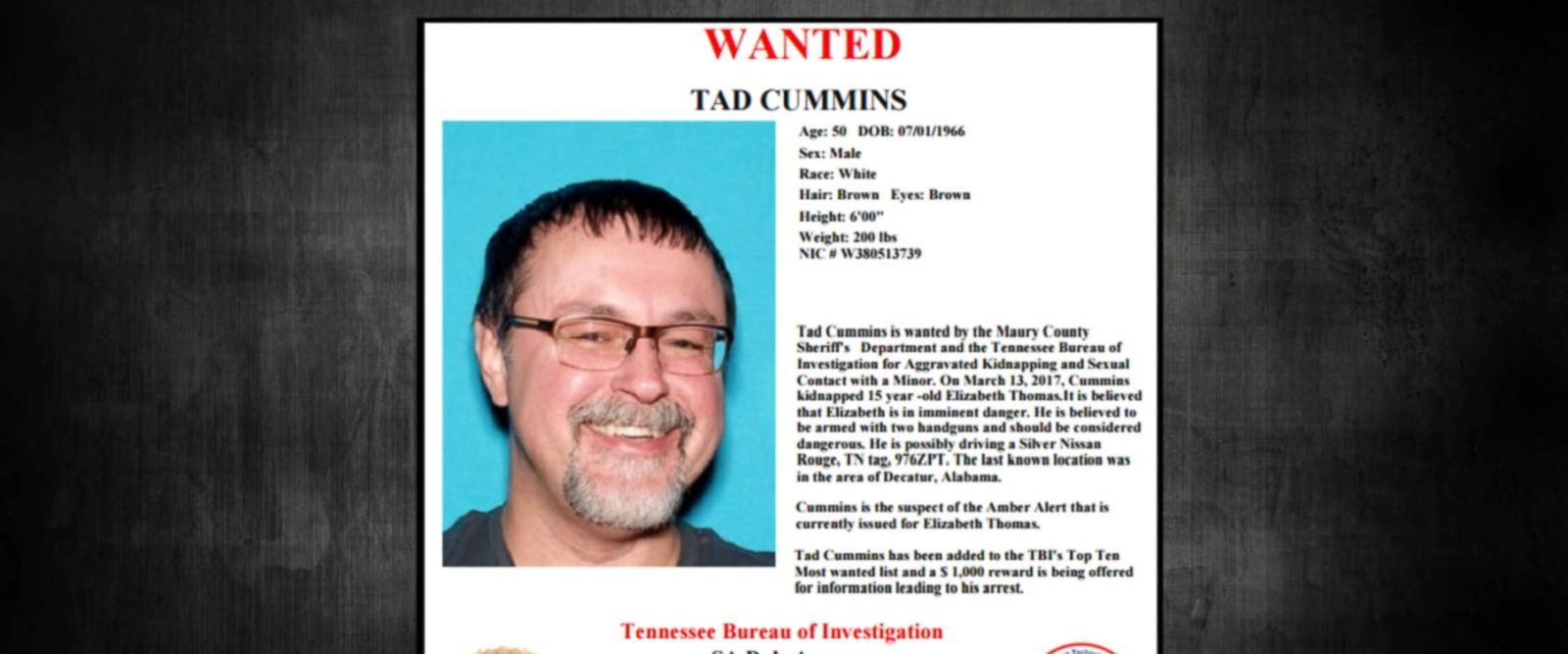 VIDEO: Manhunt underway for teacher who allegedly abducted teen