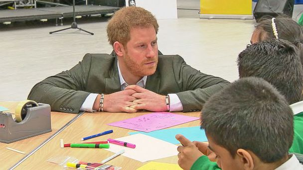VIDEO: Prince Harry visits center for people with HIV
