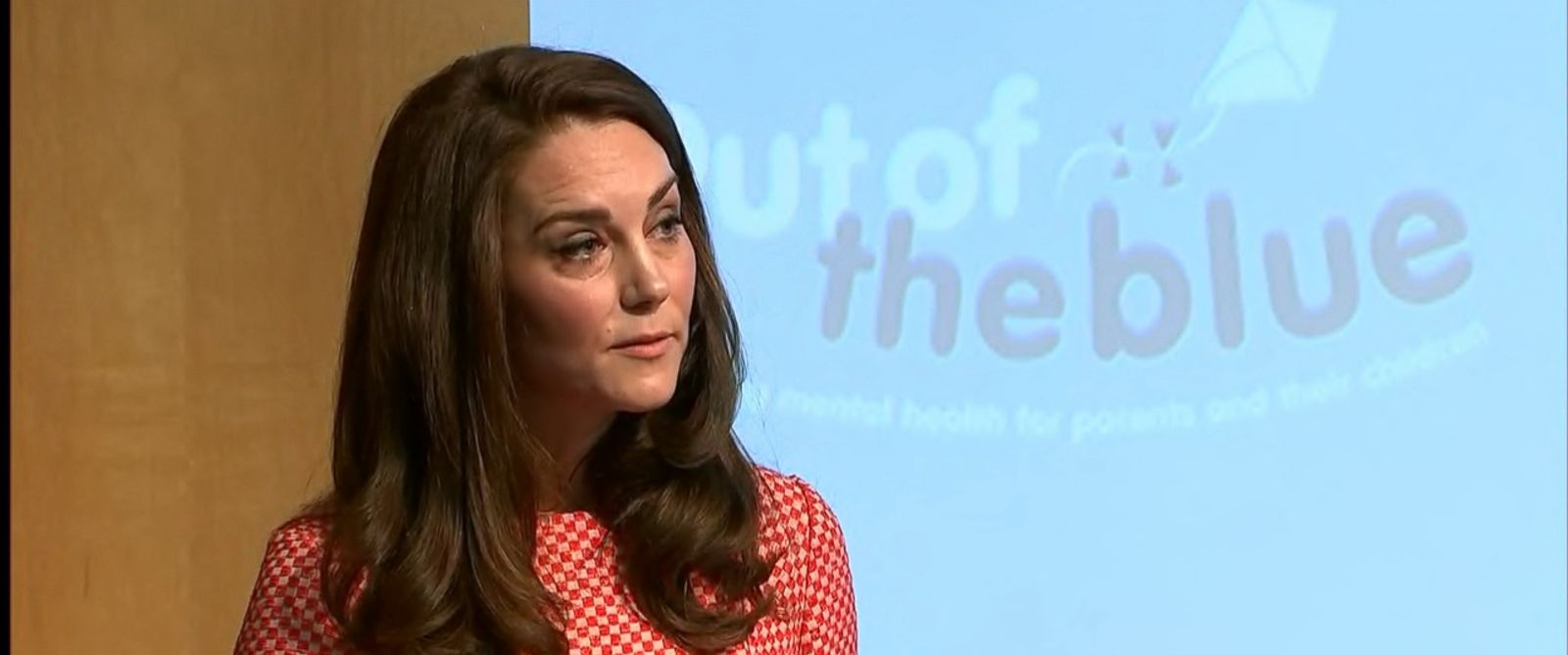 "VIDEO: Kate, 35, also addressed the London terror attack at the launch of the ""Out of the Blue"" film series."