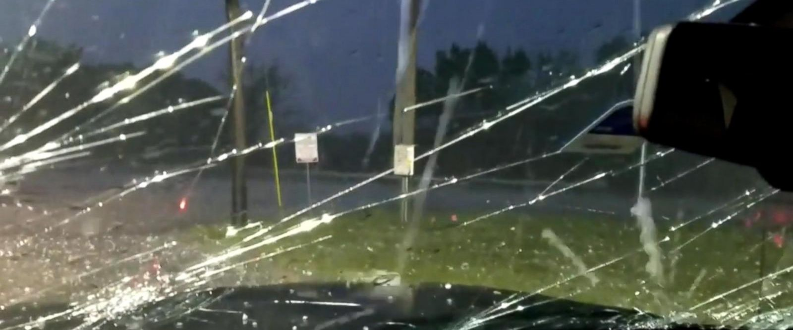 VIDEO: Severe storms bring golf ball-sized hail to Texas