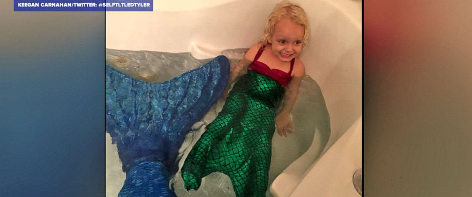 VIDEO: Teen brings little girl's mermaid dream to life