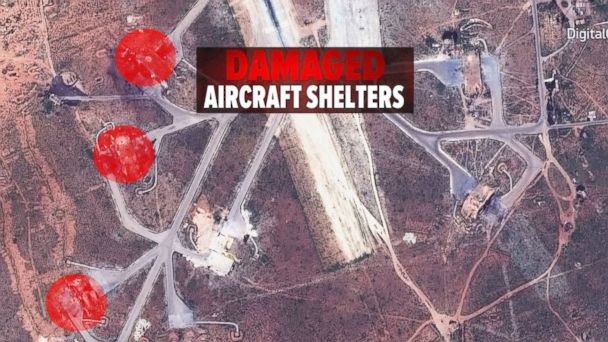 VIDEO: Images of damaged Syrian air base after strike released
