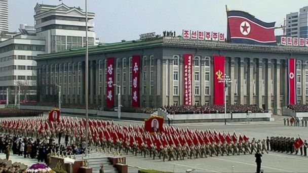 VIDEO: North Korea shows military muscle at parade celebrating the country's late founder