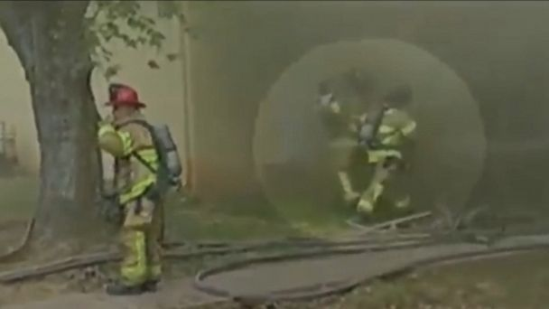 VIDEO: A Georgia firefighter is being hailed a hero after saving the child from the blaze.