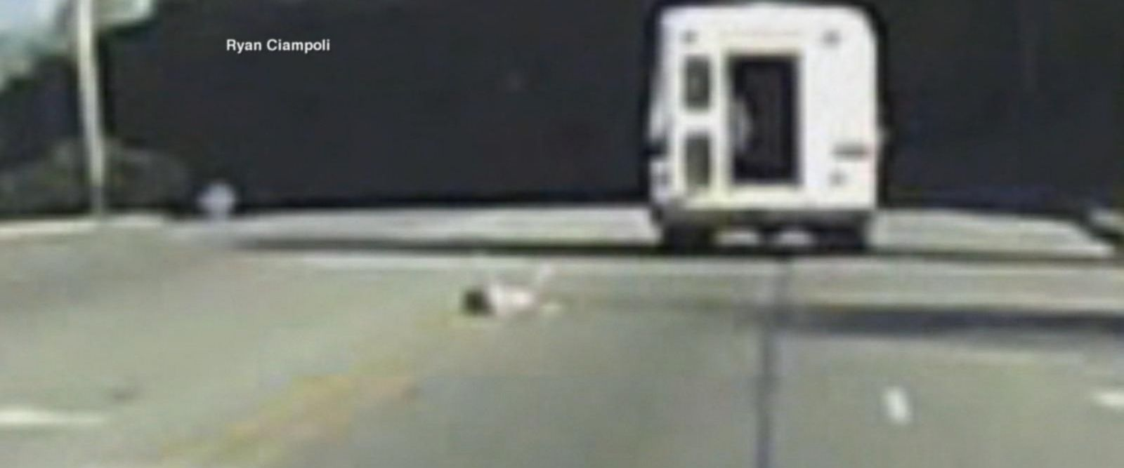 VIDEO: Dramatic video of a child falling from a bus on the highway