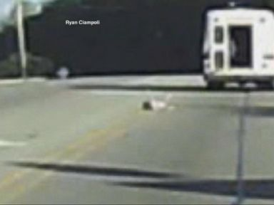 WATCH:  Dramatic video of a child falling from a bus on the highway