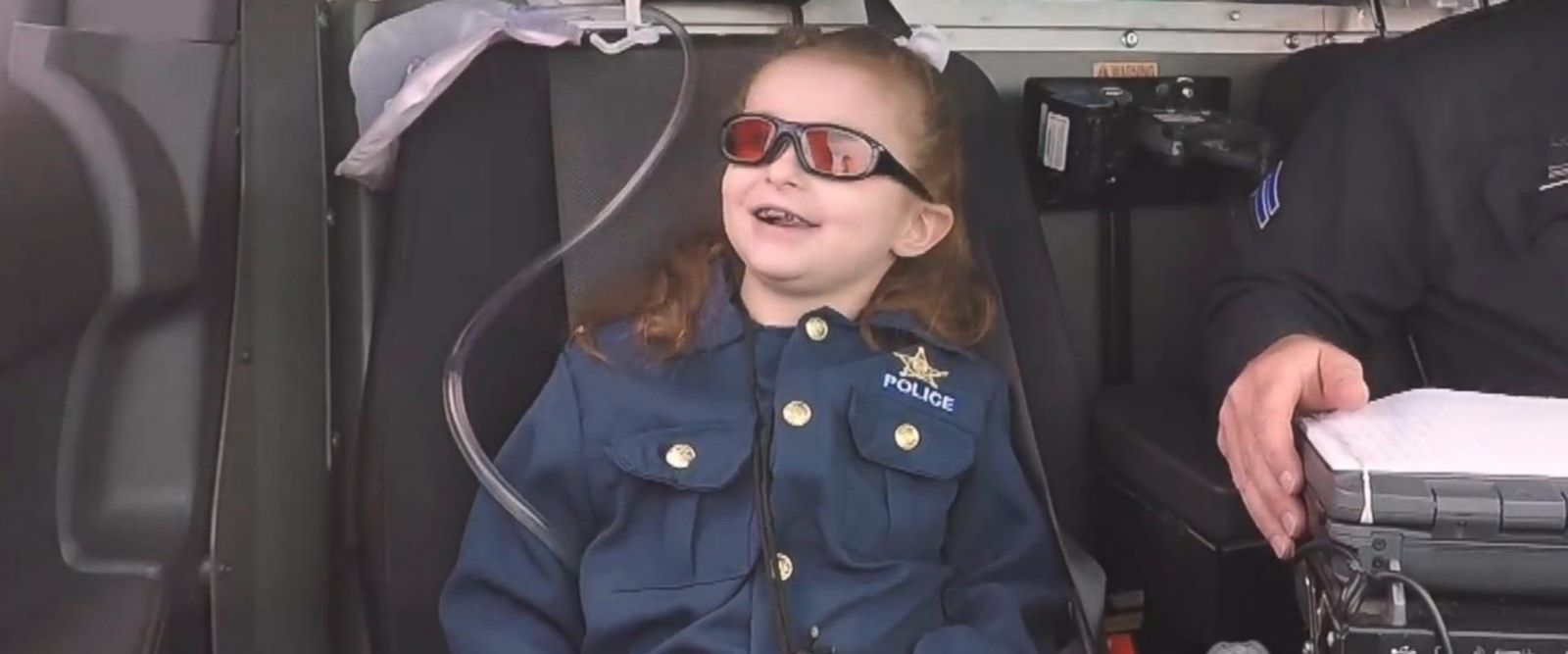 VIDEO: Terminally ill 6-year-old fulfills bucket list item to become police officer
