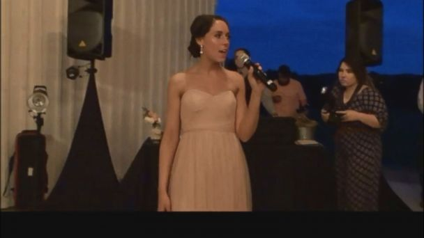 VIDEO: Katie Godby, the bride's sister, channeled Eminem's