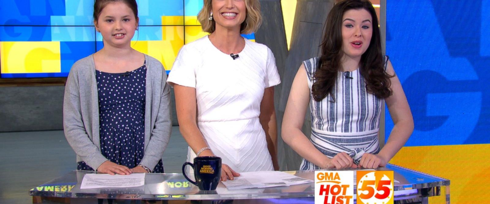 VIDEO: 'GMA' Hot List: Amy Robach and her daughters announce the news on Take Your Kid to Work Day