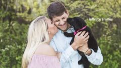 VIDEO:Couple welcomes puppy to family with paw-dorable sex reveal photo shoot