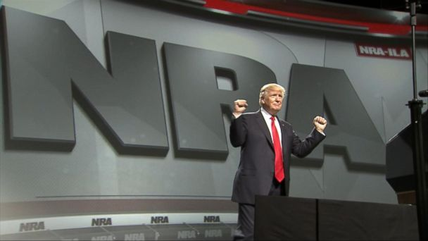 VIDEO: Trump addresses National Rifle Association and plans rally in Pennsylvania to mark 100th day in office