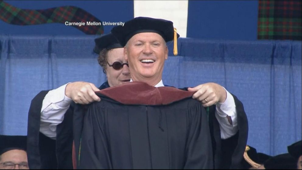VIDEO: Michael Keaton awarded honorary doctorate from Carnegie Mellon University
