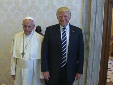 WATCH:  President Trump meets with Pope Francis at the Vatican