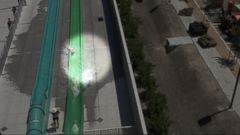 VIDEO: 10-year-old boy tumbles off water slide onto concrete