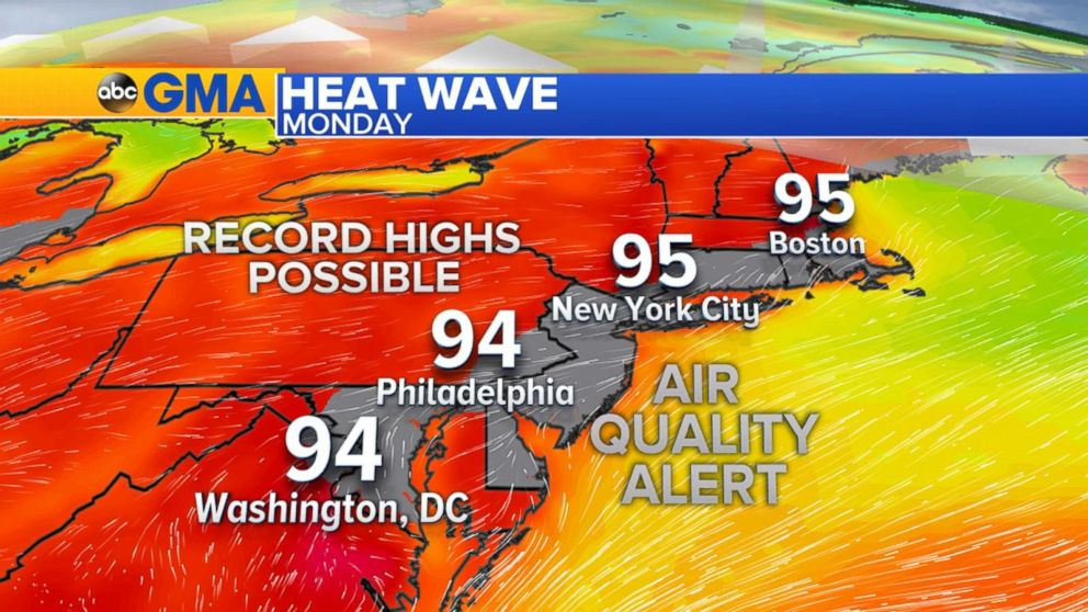 VIDEO: Heat wave hits the East Coast