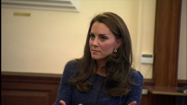 VIDEO: Kate, 35, also met with hospital staff in a surprise visit to King's College Hospital in London.