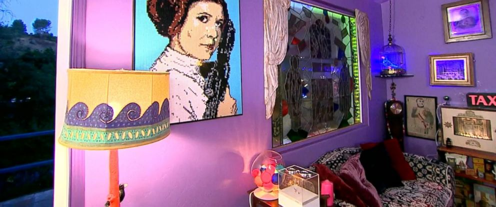 VIDEO: An exclusive live look inside Carrie Fishers unique home