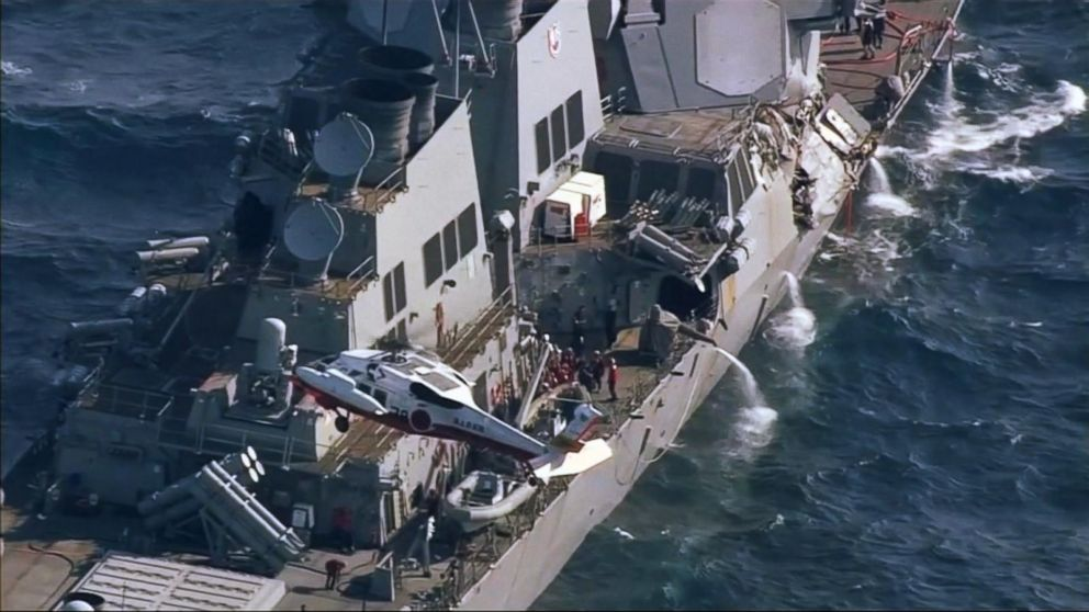 WATCH:  Bodies of missing USS Fitzgerald sailors found