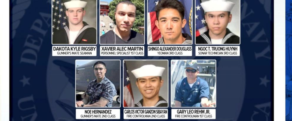 VIDEO: Seven sailors found dead after USS Fitzgerald Collision