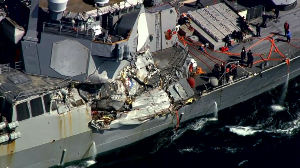 VIDEO: Questions raised in USS Fitzgerald collision that left 7 dead