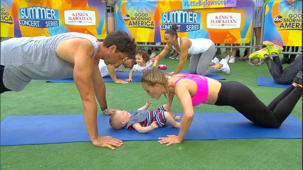 VIDEO: 'Dancing' pros Maksim Chmerkovskiy and Peta Murgatroyd share family workout tips