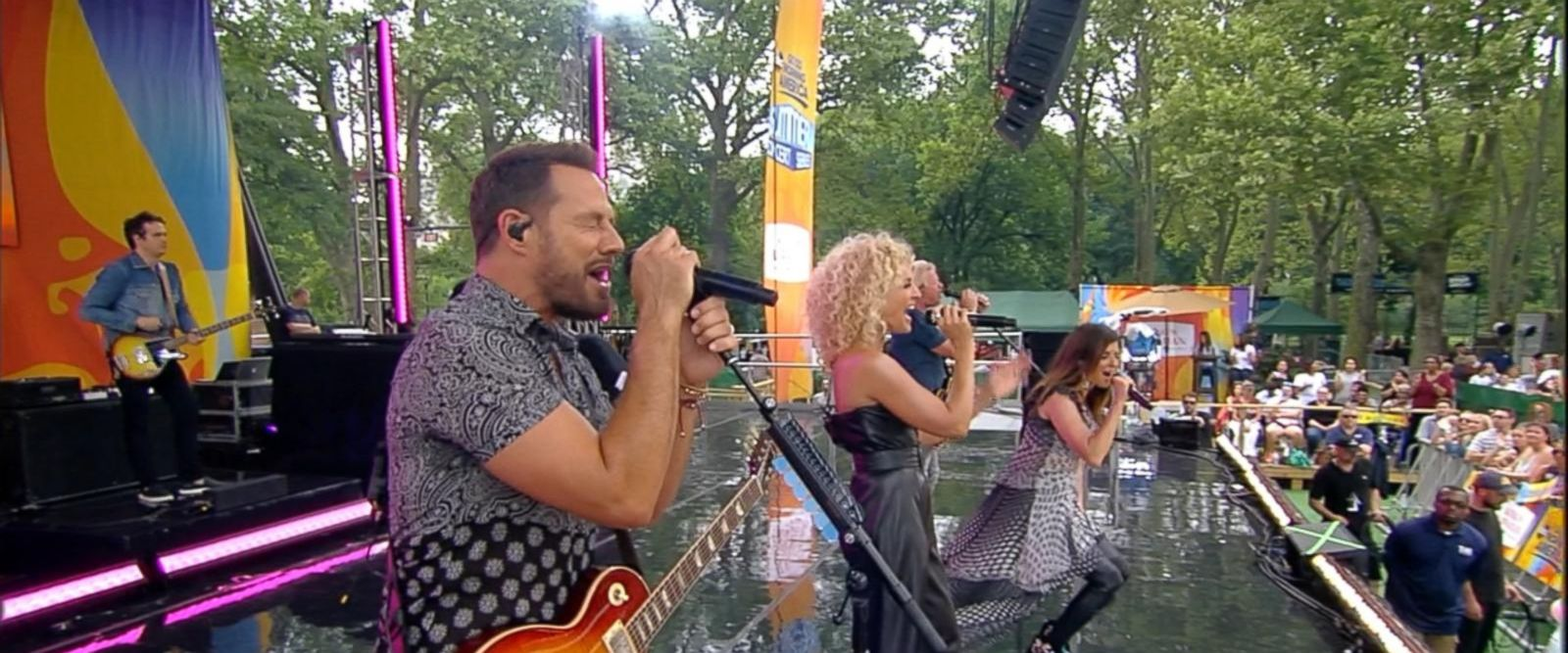 VIDEO: Little Big Town gives an exclusive performance of 'Rollin' in Central Park