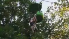 VIDEO: Video shows moment teen falls over 20 feet from amusement park ride