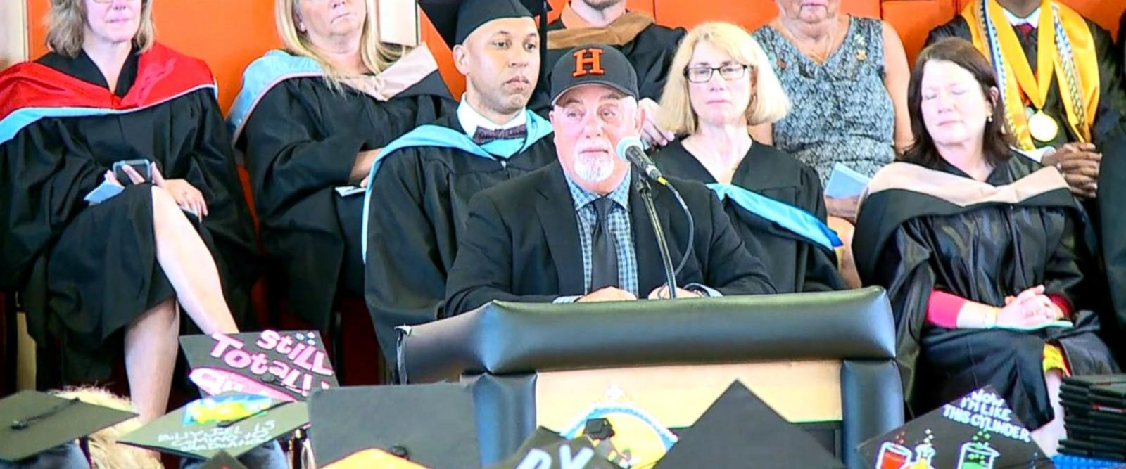 VIDEO: Billy Joel delivers commencement address at his Long Island High School