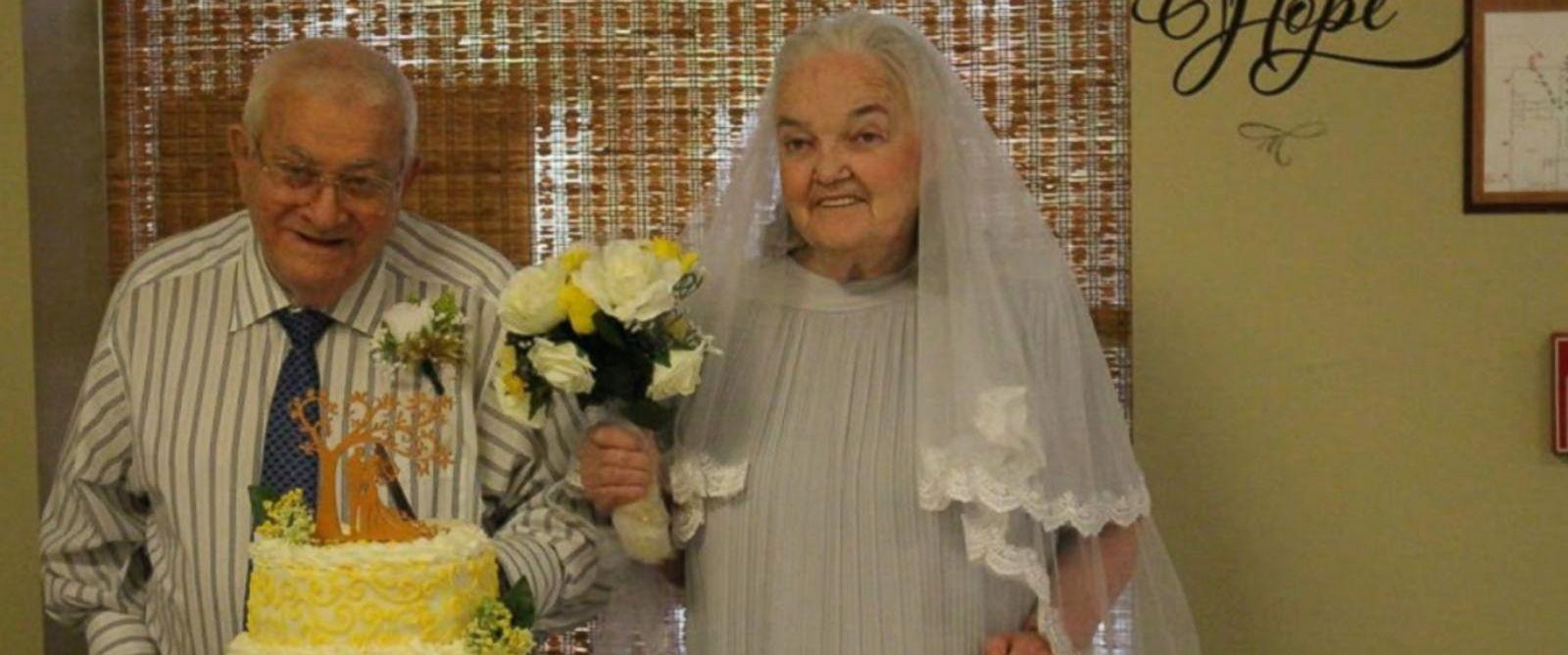 VIDEO: 9 senior citizen couples renew their vows at their senior care center