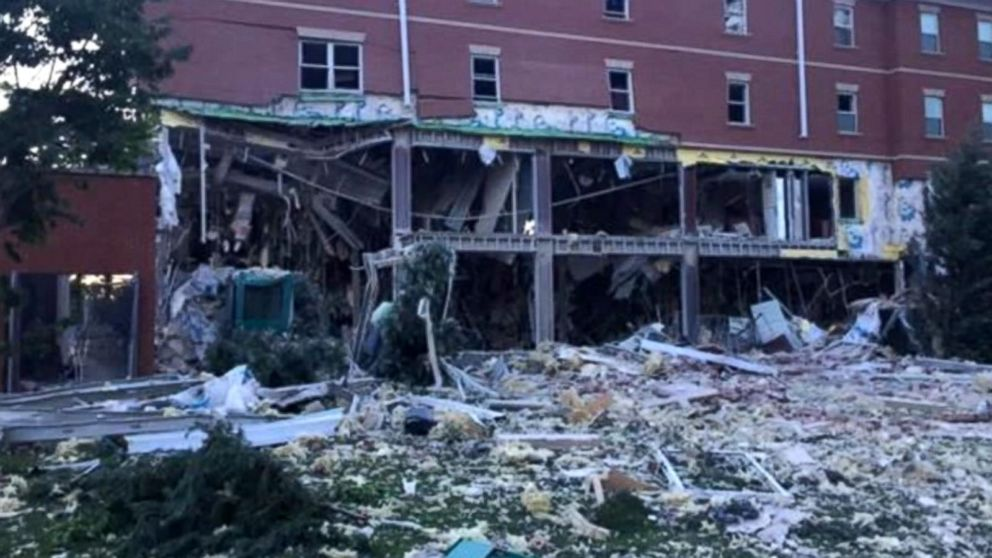 VIDEO: At least 1 person injured in dorm explosion