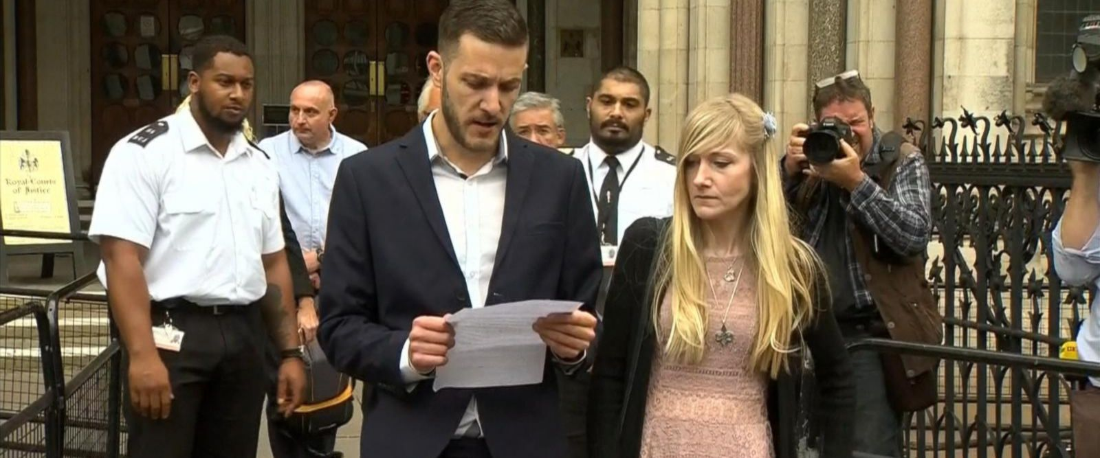 VIDEO: Charlie Gard's parents spend final moments with terminally ill son