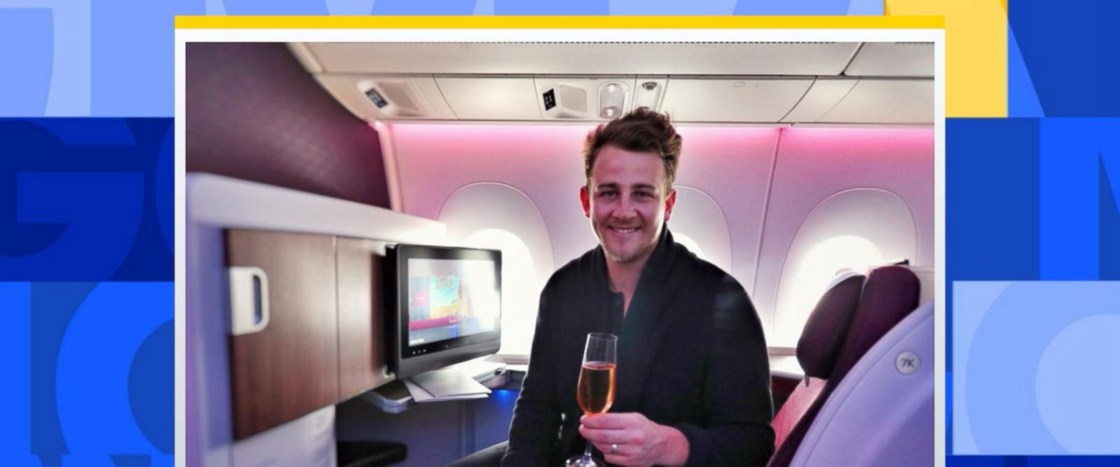 VIDEO: Travel blogger will 'gladly' offer you an upgrade if you spot him at the airport