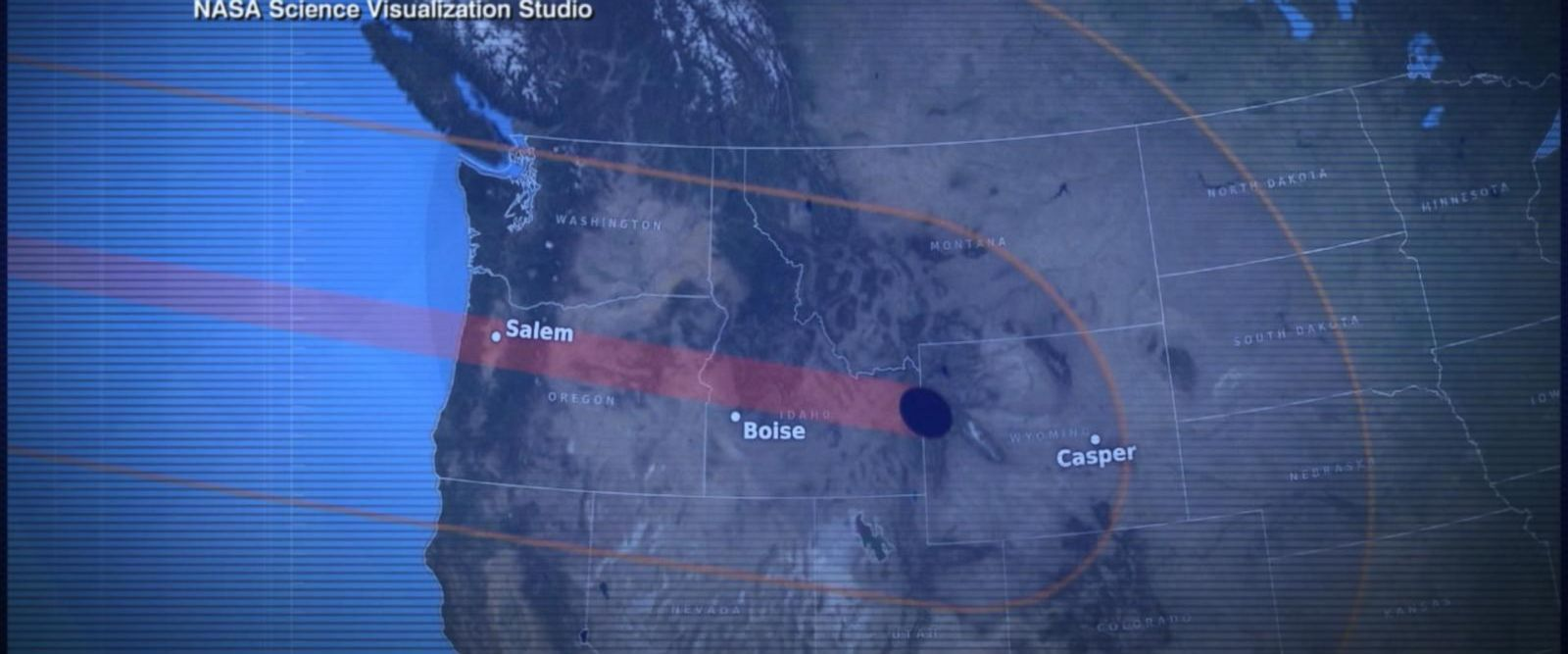 VIDEO: Following the complete path of the Great American Eclipse