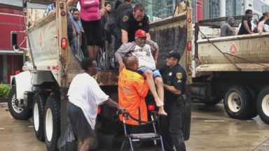 Now Playing: Harvey evacuees seek shelter at Houston convention center