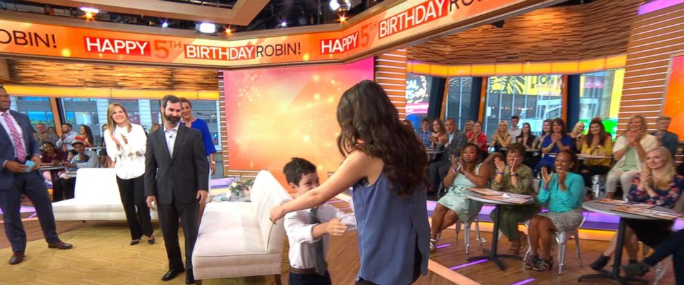 VIDEO: Boy, 8, meets the stranger who saved his life live on GMA