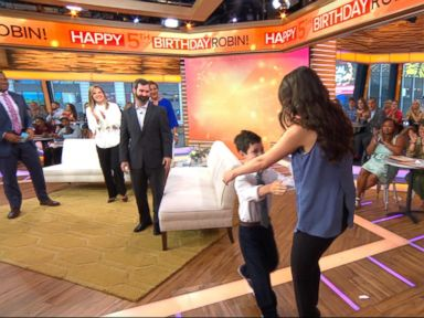WATCH:  Boy, 8, meets the bone marrow donor who saved his life, live on 'GMA'