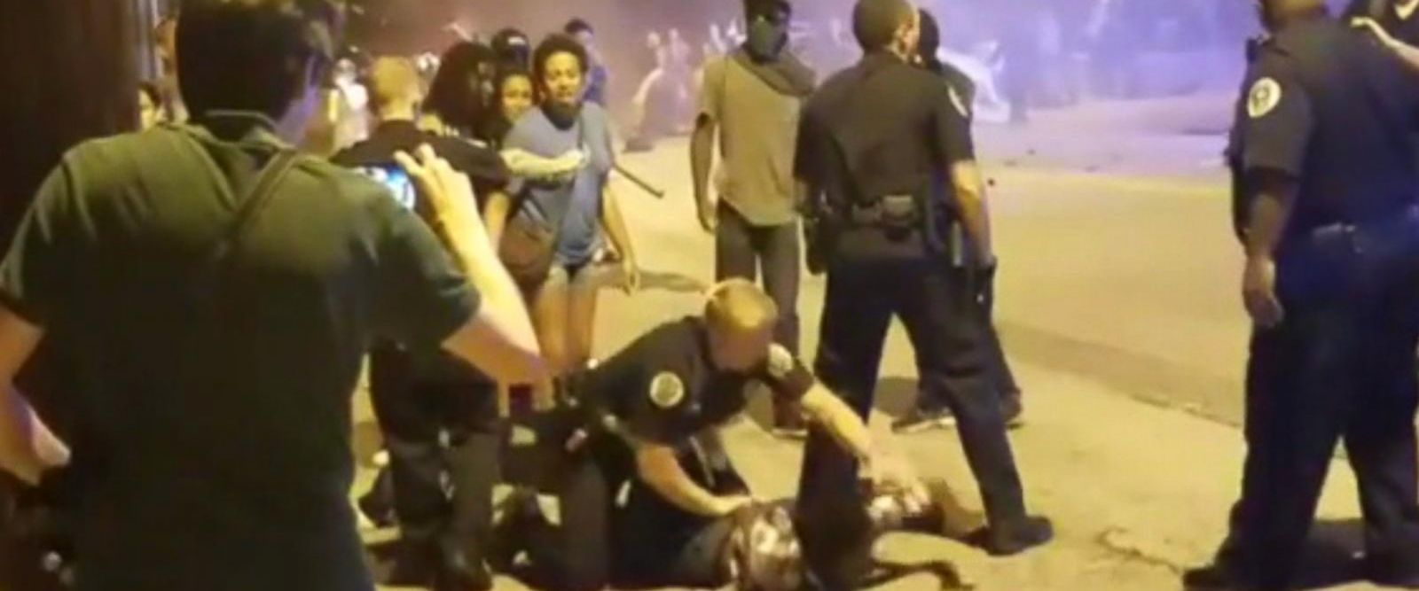 VIDEO: 2 police officers injured in protests at Georgia Tech