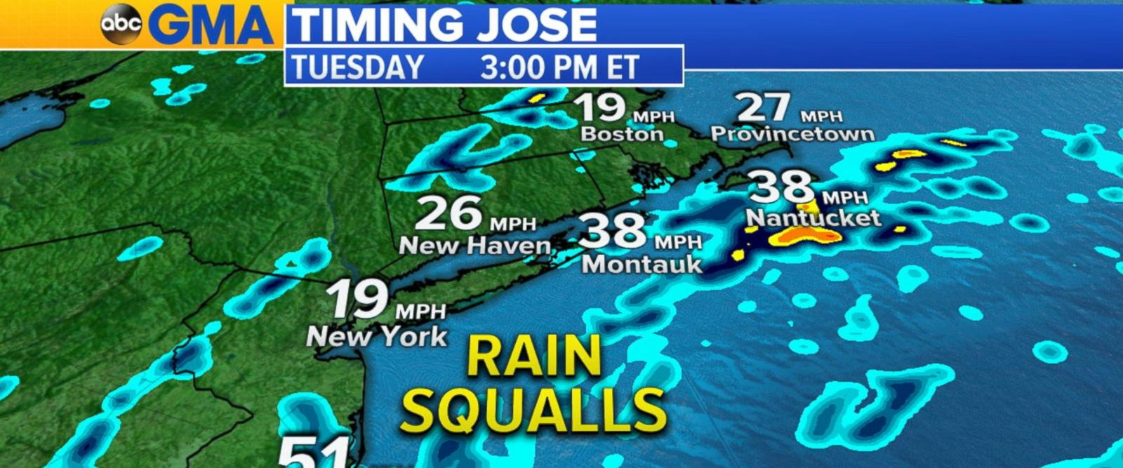 VIDEO: Tracking the latest path of Hurricane Jose