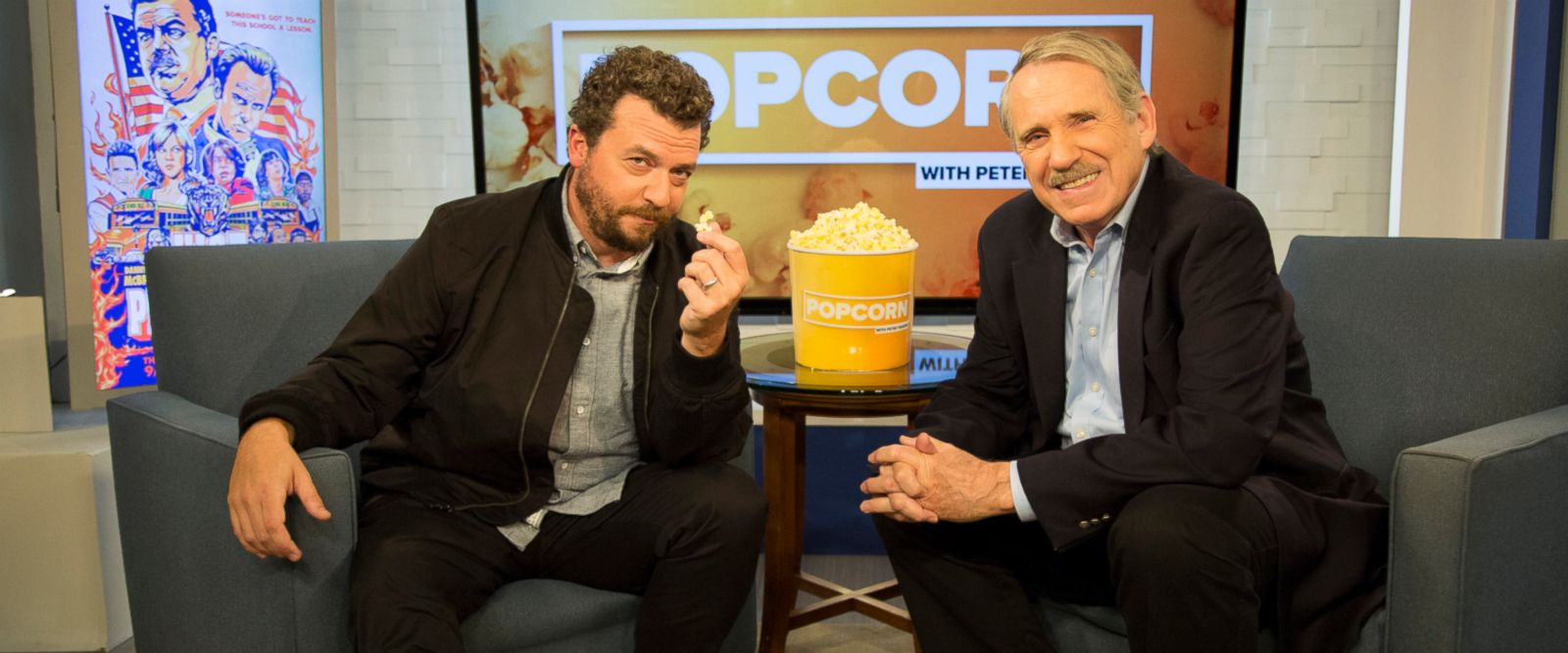 "VIDEO: McBride appears on ""Popcorn With Peter Travers"" and shares how real-life events may have inspired the show's quirky storylines."