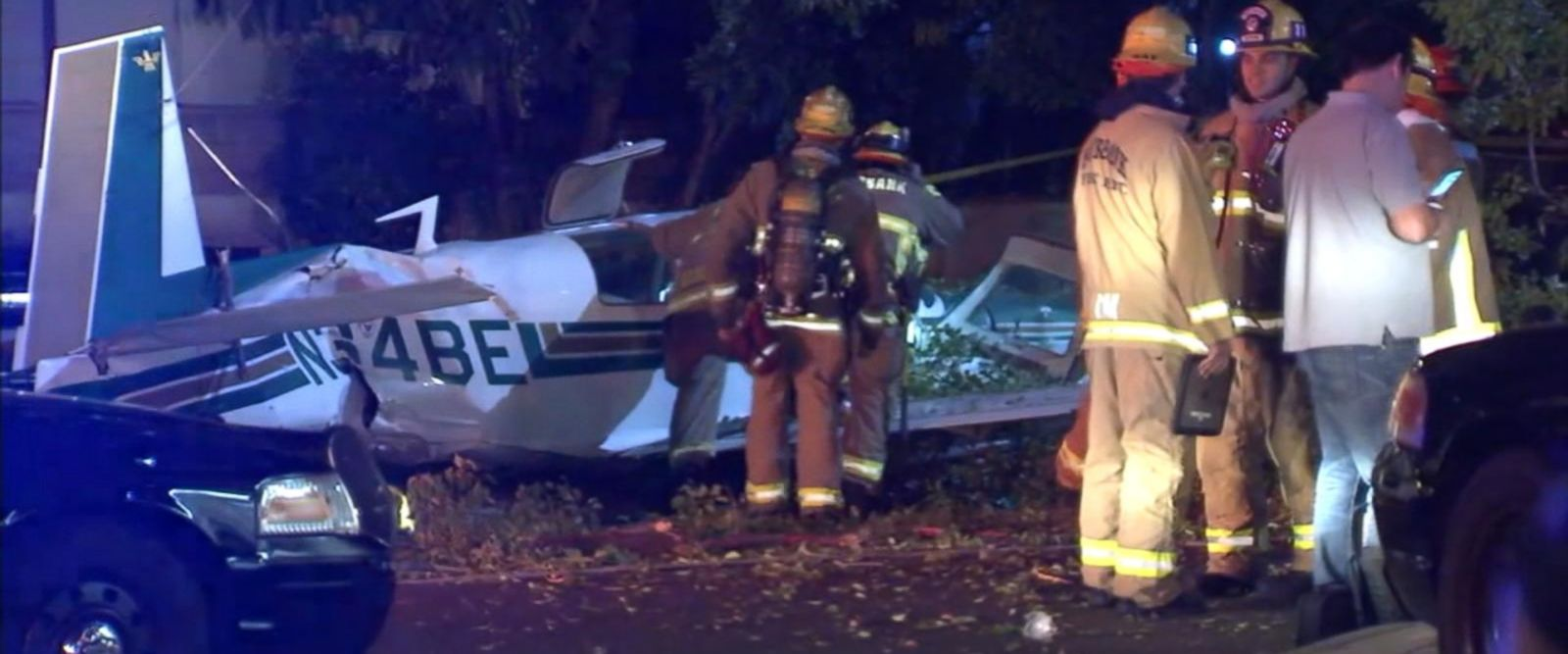 VIDEO: Plane makes crash landing on California street