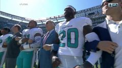 VIDEO: NFL owners lock arms with players during national anthem