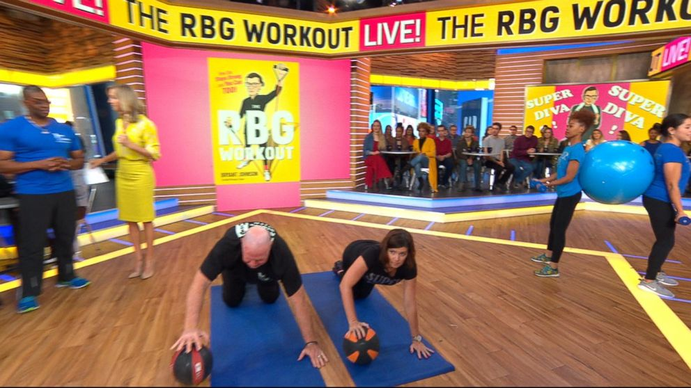 WATCH: Ruth Bader Ginsburg's trainer shows you how to work out like a Supreme Court justice