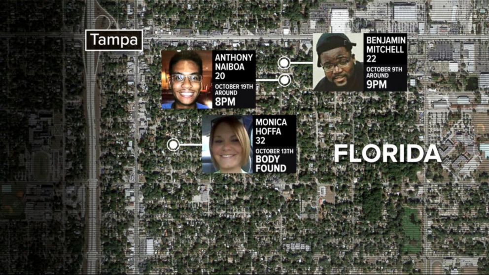 Authorities searching for killer terrorizing a Tampa Bay neighborhood