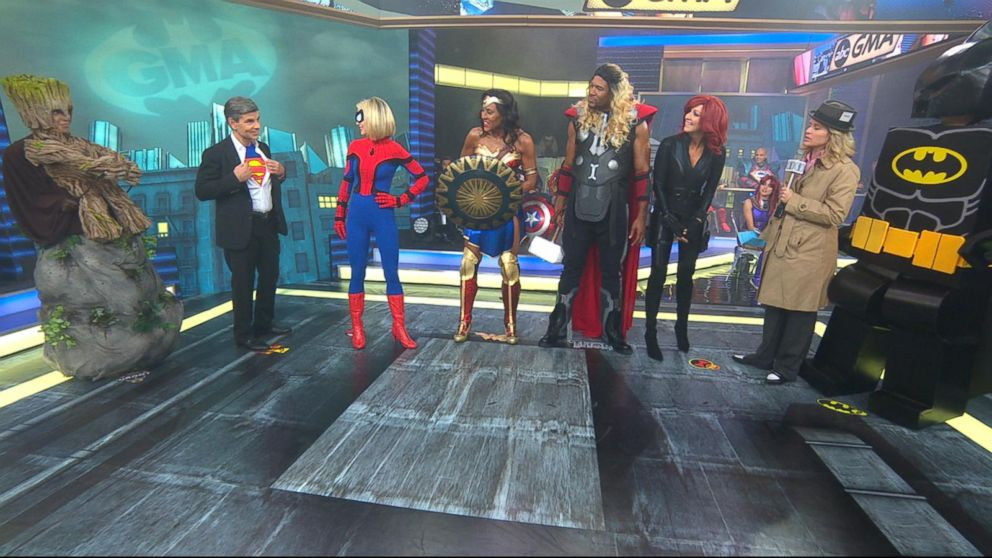 Wonder Woman, Spider-Man and more superheroes take over 'GMA' for Halloween