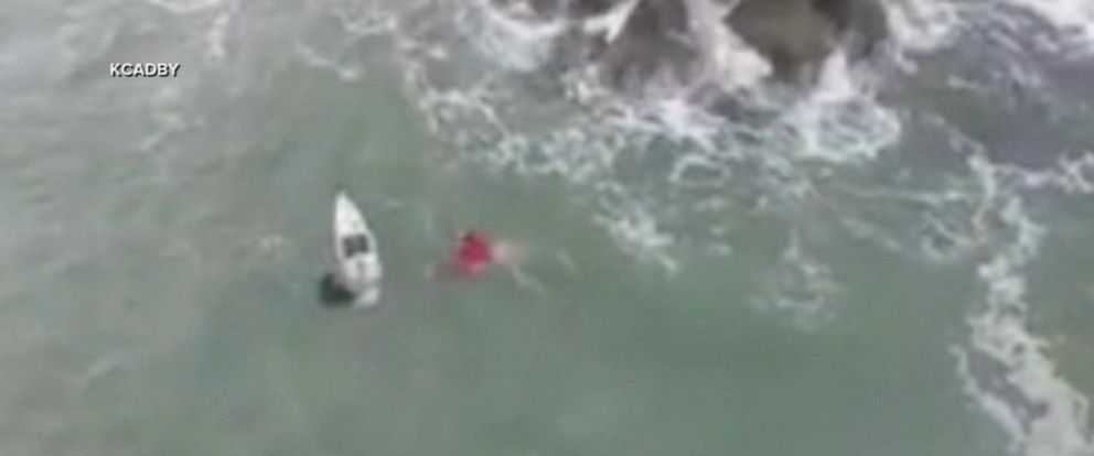 VIDEO: Teen surfer rescues drowning boater