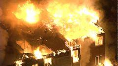 VIDEO: Massive fire engulfs nursing home near Philadelphia