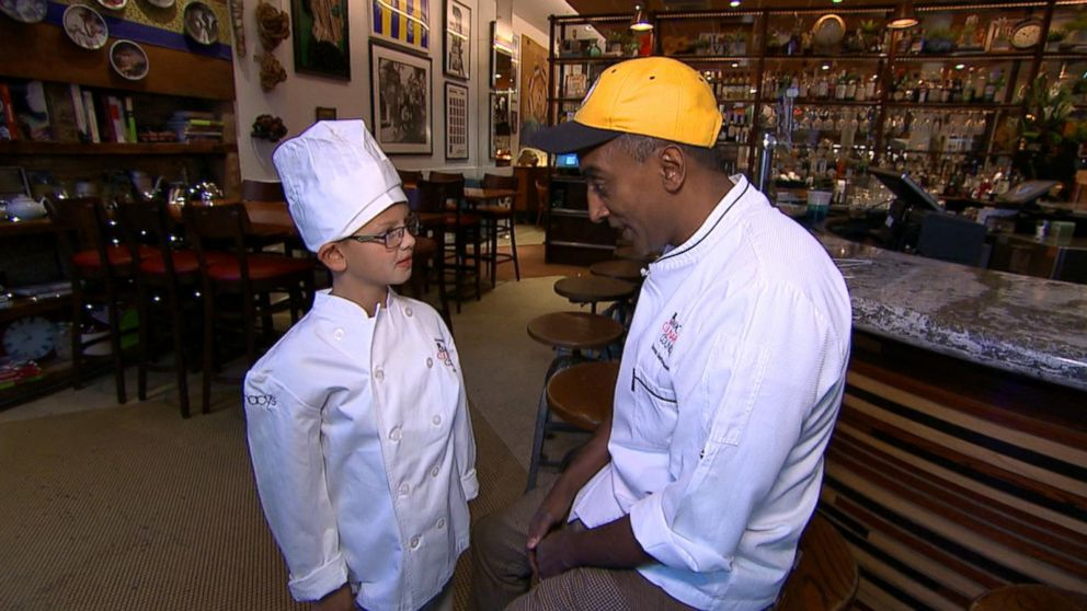 WATCH: Boy with congenital heart defect becomes a chef for a day