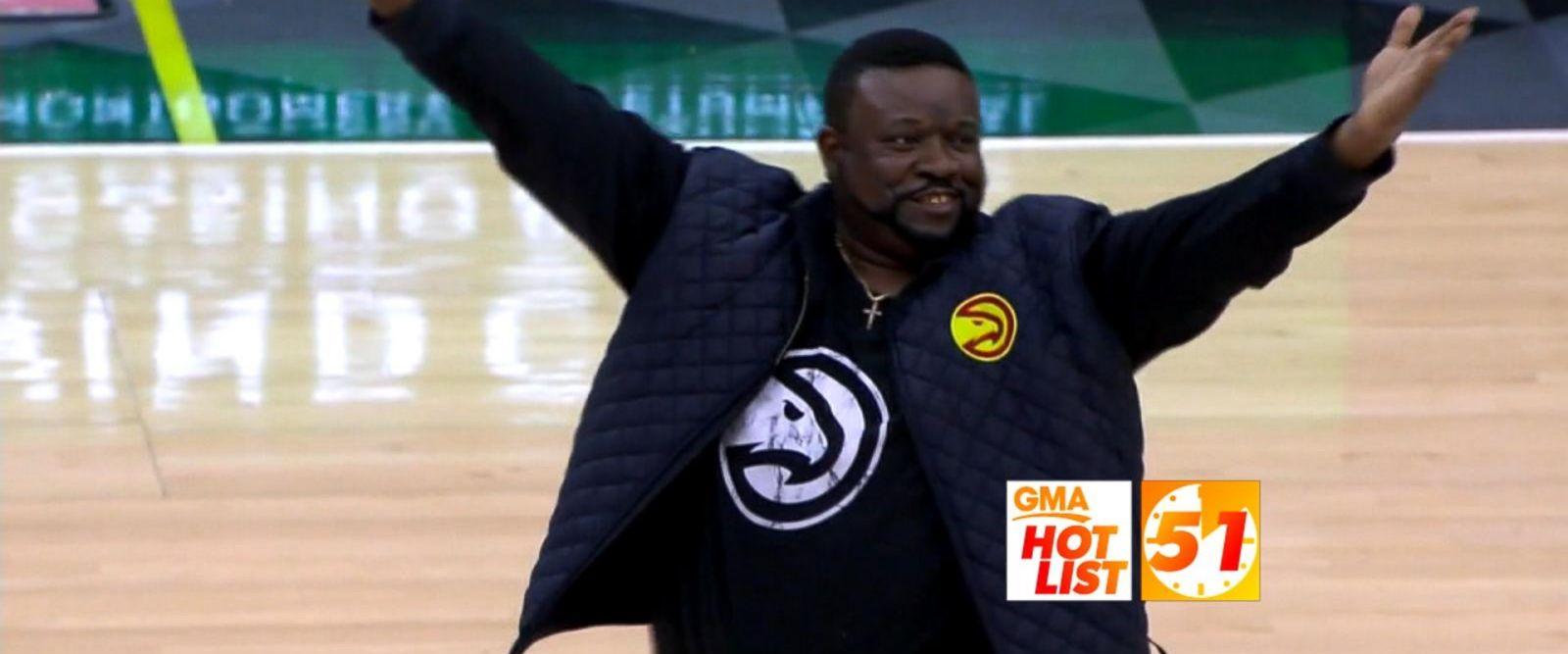 VIDEO: 'GMA' Hot List: Fan has best reaction to sinking half-court shot
