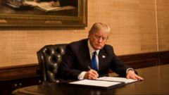 VIDEO: Trump signs bill to end government shutdown
