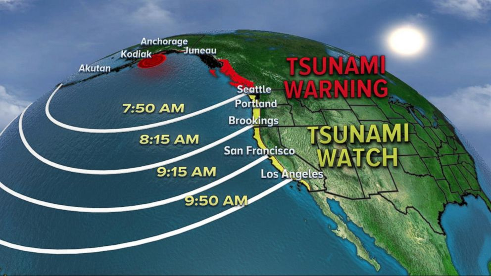 Alaska residents react to tsunami warning after earthquake